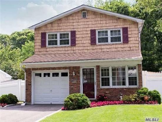 Beautiful 4 Bedroom Colonial Located In Kings Park Central School District, Home Features Hardwood Floors, Updated Kitchen W/ Granite Counter Tops And Stainless Steel Appliances, Cac, Energy Efficient Furnace, Brand New Above Ground Oil Tank, Alarm, And Low Maintenance Property, Amazing Opportunity Close To All!!!!!
