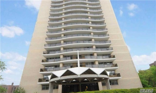 Rare Opportunity Below-Market Birchwood Towers Spacious 2Br In Luxury 24Hr Doorman Bldg. Pet-Friendly. Huge Liv Rm, Xlg Master Br, Spacious 2nd Br. Amazing Closet Space. Needs New Kitchen & New Bath. Seasonal Heated Pool. Giant Communal Terrace & Playground. New Gym. Parking Garage. Just 1/2 Block To Subway & Express Bus. Steps To All Transport & Shopping