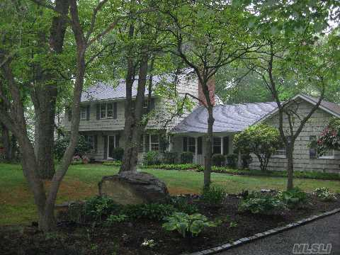 Stately True Center Hall Colonial Set At The Head Of A Quiet Picture Perfect Cul-De-Sac.Walls Of Galass Overlooking Gunite Black Lake Like Pool Plus Magnificant Woodland Vista-Quaility Kitchen W/Granite Counter And Fireplace.Close To Town And Easy Access To Rr Great Value Come And See Taxes W/Star 15403.64