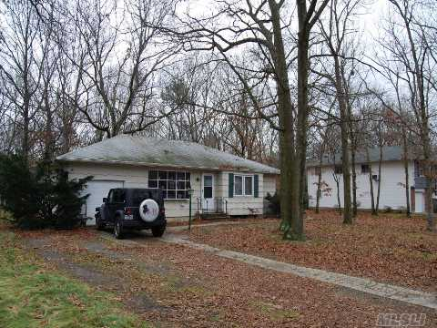 One Family Ranch With Three Bedrooms. Large Basement. Half Acre Lot.