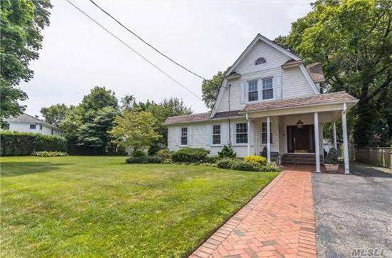 Property Lovers Delight, Vacation In Your Own Backyard! Unique Over Sized Property Features An In Ground Pool, Patio And Deck, Perfect For Summer Entertaining. Lovely 3 Bedroom, 1.5 Bath Colonial Convenient To Restaurants, Shopping And Lirr.
