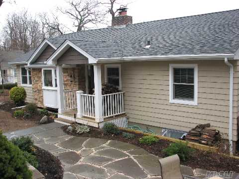 Updated 3 Bdrm, 2 Bth Ranch. Winter Waterviews, Open Flr Plan, Finished Bsmt With Ose, Woodburning Fplc, Charming Dutch Door, 4 Car Parking + 1.5 Car Gar, Gleaming Oak Flrs Thru Out, Turn Key. Major Updates Incl Andersen Wndws,Certainteed Cedar Impressions,Deck Off Dr, Bluestone Patios, Cac.Min To Beach With Beach & Mooring!