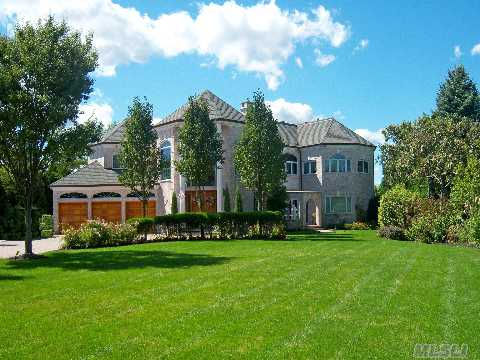 Uncompromising Quality & Finish Is Found In This One Of A Kind Brick Estate On 1.82 (High & Dry) Acre,  With 150 Ft Of Waterfront In Bayberry Point. Recently Updated This Majestic Residence Offers Unobstructed Sunsets Overlooking 'The Great Cove'.