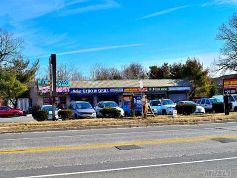 Attention All Investors. Own This 6 Unit Strip Mall On Busy Road - High Volume Traffic,  35 Parking Spaces. Approx. 1 Mile From L.I.E. - 6 Small Store With Lots Of Opportunity. Great Investment.