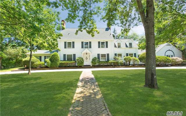 Class And Elegance Describe This Center Hall Estate Colonial Which Is Seated On Beautiful Property With Updated Kitchen And Baths. Owner Has Renovated The Bones Of This Home Which Features All New: Roof, Fascia, Leaders & Gutters, Gas Boiler, Hot Water Tank, Electric, Igs System, Chimneys Redone And Steel Liners Added.