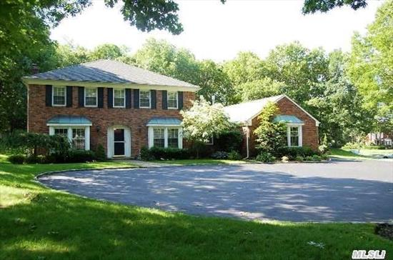 Legal 2 Family By C.O.  Stunning 8 Bedroom,  Center Hall Colonial Fully Wrapped In Brick W/Gorgeous Granite Eik,  Den,  Formal Living Room W Fireplace,  3.5 Baths,  Separate Master Suite. Jenn-Air Grill. Sits On 1 Acre Property. This Is A Must See! Taxes W/Star $15, 489.53