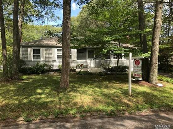 A 5 Year Young Roof, Brand New Oil Burner, Hardwood Floors, Great Room W/ Fireplace, Cac, Rights To Beach, Active Civic Association - North Of Lake Panamoka - 3 Bedrooms, 2 Baths!