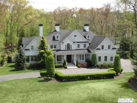 Colonial Manor Home W/Wrap Porch On 3 Perfect Acres W/25X54 Igp,  Cabana. 2 Story Foyer, Gourmet Kitchen,  Formal Living Room,  Dining Room W/Coffered Ceiling.Great Room W/Dual Fireplace Custom Cherry Millwork,  Bar,  Mahogany Library W/Adjoining Billard Rm. Master Bedroom Suite W/Fireplace, Designer Dressing Rm/Walk-In Closet, 4 Large Bedrooms All W/Baths.Beach & Mooring.Cshsd#2