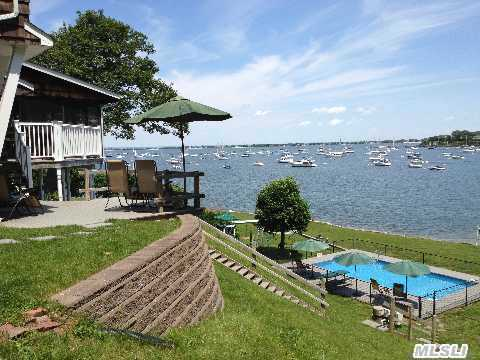 Vacation All Year Long In This Awesome Home With Lower Level Guest Suite. Beautiful 102' Of Waterfront On Northport Harbor. Large, Spacious Rooms - Many Updates, Panoramic Views From Every Room. 2 Fplc, Cac, Hw Floors, Salt Water Pool, Updated Heat & Elect., Amazing One-Of-A-Kind Home! Don't Miss This Exceptional Value!! Taxes Being Grieved.