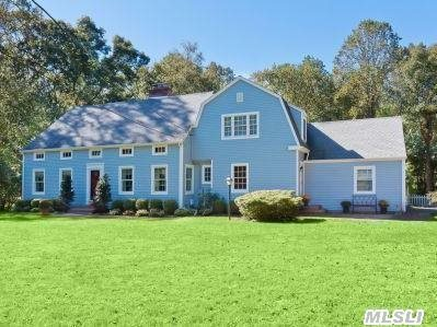 This Traditional Home Is Bright, Spacious And Updated. Luxurious Master Suite Offers A Spa Retreat Everyday. Large & Sunny Kitchen/Great Rm W. Ss Appl. & Generous Island. Updated Baths W. Marble & Endless Closets.  Beautiful Property On Quiet  Pvt. Road & Beach W. Mooring Rights (Dues) All New Windows & Siding. Approx. 4000 Sq Ft. Best Opportunity In Csh Sd #2!!!