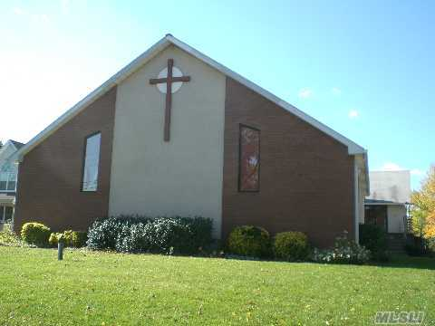 This Church Offers A Large Entry Foyer,Sanctuary That Seats 210 People,Additional Room To Seat 70 People.Full Bsmt W/Sunday Schl Rm-Additional Office, Kitchen, Elevator & 3 Baths. New Cac,Heating Sys.& Alarm. Approx-65 Parking Spaces.Possible Day Care.