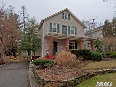 Charming Village Colonial W/ Many Updates, Hw Floors, Gas Heat, Expanded Master Closet, Shows Beautifully, 2 Blocks From Village.