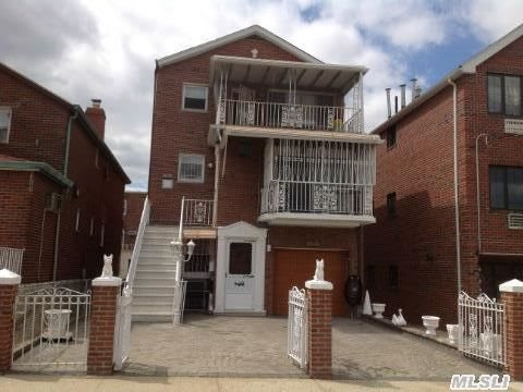 Lovely Custom Built Detached Brick Two Family Home,  W/6+6 3Br,  2Fb, Kit,  Lr,  Dr- 2 Balcony's. Fin Walk In + Full Fin Basement. 1 Car +2 Parking Spaces. Near Shopping Center And Transportation.