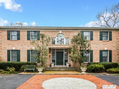 Diamond Traditional Grand Brick Colonial W/ Stunning 2 Story Entry Hall, Over Sized Gourmet Eik. Family Rm W/Fpl, Formal Livingroom/Diningroom. Fabulous Resort Setting On 2 Wooded Acres W/Heated Gunite Pool, Beautiful Brick Patio W/Awning Surrounded By Beautiful Specimen Plantings. Generator Included!! Cold Spring Harbor Schools.