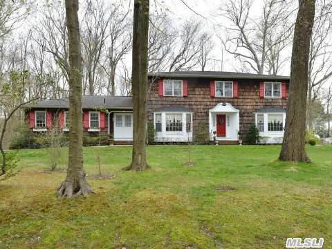 In The Heart Of North Shore's Prestigious Old Brookville With 1 Acre Of Mature Plantings Sits This Lovely Colonial On A Serene And Peaceful Country Lane.  North Shore Schools And Low Taxes!!