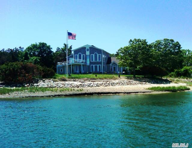 Sensational Bayfront Contemporary Home With 340 Feet Of Water Frontage. Protected Dock For Two Boats. 4 Bedroom,  2.5 Bath Home. Updated In 2002. New Dock In 2003. One Of The Most Beautiful Waterfront Properties On The North Fork! New To The Market!