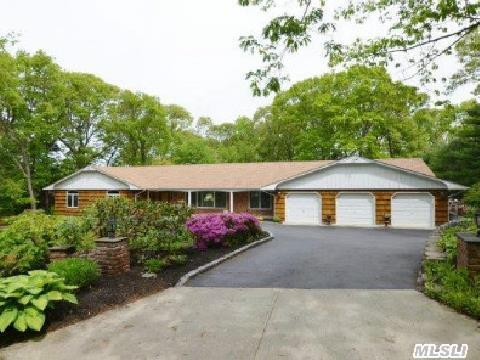 Lovely Updated Sprawling Ranch, Ideal Home For Entertaining Lush Acre, Heated Igp, Gazebo, Hot Tub, Paver Patio, 3/4 Car Garage, Spacious Rooms, Huge Mst Br/New Bth, Sunny Updated Kit, Hw Floors, Fpl, Wood Paneled Doors, Roof & Gutters 2011, Boiler 2001, Brand New Hwh, Separate Guest Quarters, Fully Fenced Yard,  House Fully Wired For Sound Taxes/Star $16074 Taxes Being Grieved