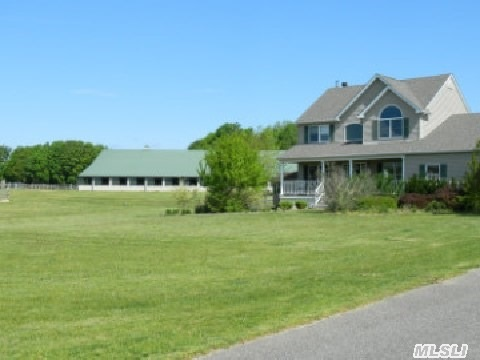 House, Farm, Indoor Arena (Approx. 80X180)Tack Rm,  Feed Rm, Bathrm,  Office,  2 Wash Stalls, Outdoor Riding Ring, 14 Turnout Paddocks And Pastures,  Barn Has Shu-Fly Misting System,  Large Stalls Have Rubber Matted Floors.Plenty Of Light And Air Flow Through This Barn!House Is A Beauty With A View Of The Farm! Business Is Up And Running Has Boarders That Want To Stay