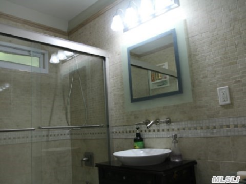 Glass steam shower!