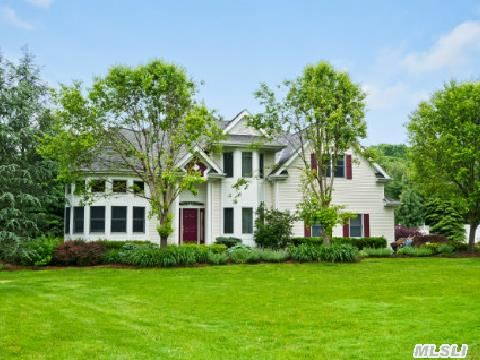 Post Modern 5 Bedroom Home,  3 Baths,  End Of Cul-De-Sac. Private 1.25 Acre,  Pool,  Sport Court,  Kitchen W/Granite,  Stainless,  Center Island Overlooks Great Room W/Fireplace,  Two-Story Turret Living Room. Professionally Landscaped Yard. Beautiful Home! Move Right In!