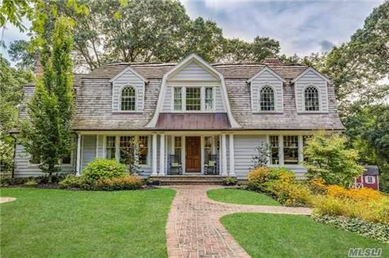 Completely Renovated Hampton Style Dutch Colonial On Serene Cul-De-Sac, Updated To Perfection Including Mahogany Deck, In Ground Pool, Custom Kitchen, 5 Cherry Plank Flooring , Shy 1/2 Acre Property In Midland Section. Eagle Dock Community Beach & Mooring.( Fee Additional)