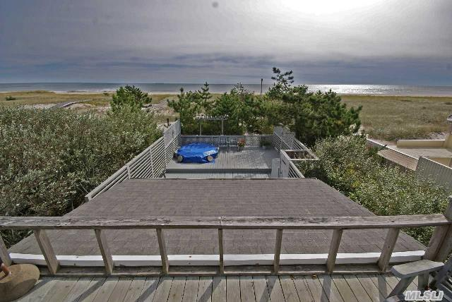 Best Value,  Oceanfront! Feasible To Construct 2, 800Sf New Home W/ Pool. Call For More Details. Existing Beach House Offers 2 Bedrooms,  3 Full Baths & Spectacular Views Of Ocean & Bay. Property Offers Over 200 Ft. Of Protective & Scenic Dunes Between House & Ocean. Multiple Decks & Plenty Of Room For Outdoor Entertainment.  Private Oceanside Deck W/ Hot Tub & Outdoor Shower