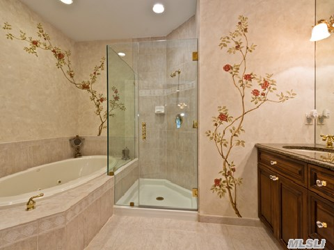 Master Bath Soaking Tub and Glass Shower