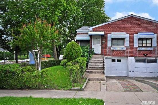 Brick 1 Family Ranch Corner Property On 30X100 Lot.Sd#26,  Gas Heat, Separate Water Heater, Newly Updated Roof, Recently Updated Windows, Finished Basement, 1 Car Garage With New Door,  Large Backyard Perfect For Bbq's. Won't Last!!!