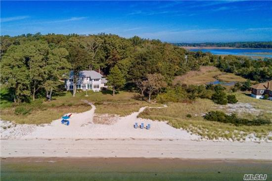 South Wind - An Early 1900S Bayfront Compound On 2.5 Acres With 165Ft+ Of Sugar Sand Beach. Enjoy Steady Breezes And Spectacular Views Of Peconic Bay From Every Angle Of The 4-Bed, 3.5-Bath Main House Designed For Gracious Living. A Charming Guest Cottage With 3-Bed/2-Bath And 3 Bay Barn. Room For Tennis Court And/Or Pool. A Rare North Fork Gem!