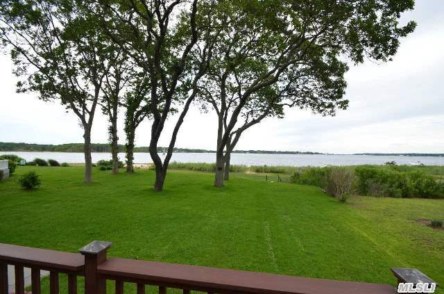 Enjoy Your Own Private Beach! First Offering Magnificent Pipes Cove Waterfront Home W/Indescribably Beautiful Panoramic View Of Peconic Bay From Wall To Wall Windows,  Beautifully Renovated! Must See!!