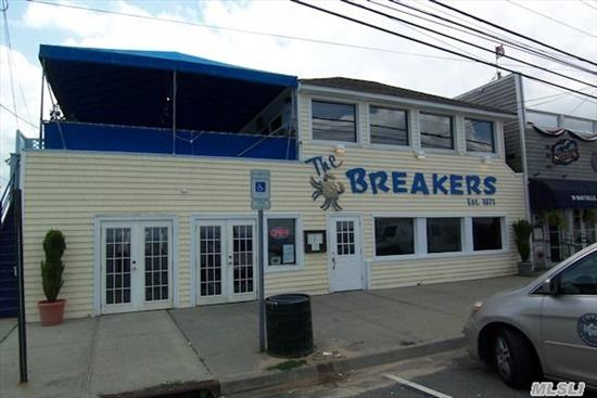 Huge Price Break On Fabulous Waterfront Location!This Totally Turn-Key Op Is Priced To Sell. Year Round, Indoor & Outdoor Dining With Gorgeous Views Of The Li Sound!Outdoor Tiki Bar. Next Door To Finleys Amusement Complex,  Famous For Its Summer & Halloween Crowds!Visit Www.Breakersrestaurant.Com. Owner Will Also Just Sell Business & Lease Prop