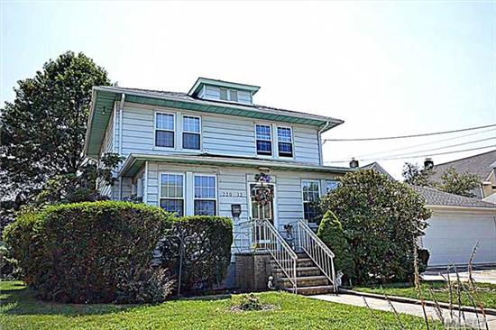 Huge Spacious Detached Colonial In Heart Of Queens Village. Home Features Huge Living Room, Formal Dining, 3 Brs, 1.5 Bath, Full Finished Bsmt, 1 Car Garage. Close To Transportation, Schools, And Stores. Must See To Appreciate.
