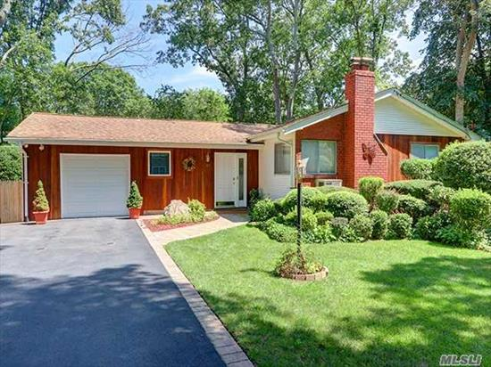 Immaculate 3 Br,  1 1/2 Bath Ranch,  Updated Kitchen & Baths. Hardwood Floors,  Full Basement + Workshop,  200 Amp Electric,  New Washer & Dryer. Fully Fenced Yard,   Redwood Siding In Front,  Great Curb Appeal. Short Distance To Shopping And Local Library. Smithtown Schools, Verified Taxes: $11.401.69 Basic STAR reduces by : $1077.00