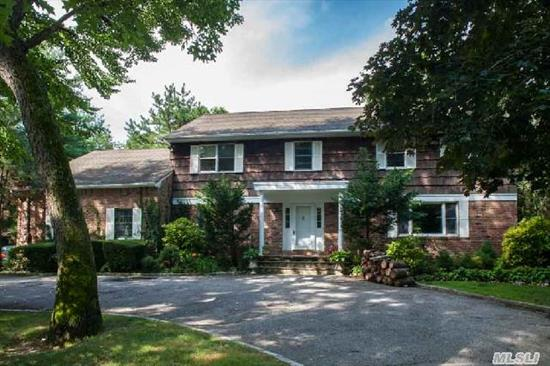 Spacious Fam Home Situated On One+Acre. Heated Gunite Pool Surrounded By Brick Deck & Hard-Tru Tennis Court. Ch Entry,  Lr Opens To Fr W/Fp,  Fdr,  Eik, Oak Cabnts,  Stainless Appliance, Centre Island W/Grill. Sliders To Deck,  W/Awning,  Overlooks Lush  Grounds. Office/Nanny, Laundry. Stairs Off Ktn To 2nd Fl Bonus Rm. 2nd Fl Master Suite+3 Add'l Brs/Ful Bth & Bonus Rm. Fin Bsmt.