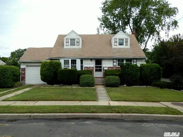 Well Maintained Cape Home With Spacious Rooms,  Hardwood Floors,  New Hot Water Heater. Nice Size Yard.  Lots Of Possibilities To Make It Our Dream Home! Taxes Do Not Reflect Basic Star Of 1179.00