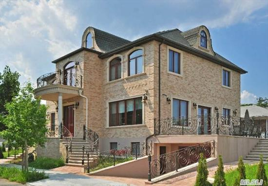 Magnificent Custom Built Home With Top Of The Line Construction Features Grand Entry,  Lr., Dr,  5 Bedrooms,  Office, 4.5Bths Large State Of The Art Kitchen Full Fin Bsmt W Sauna, Bth. Energy Efficient Home, Rad Heated Floors, Cent Vac, Security System, Sound System And More! Must See!!!
