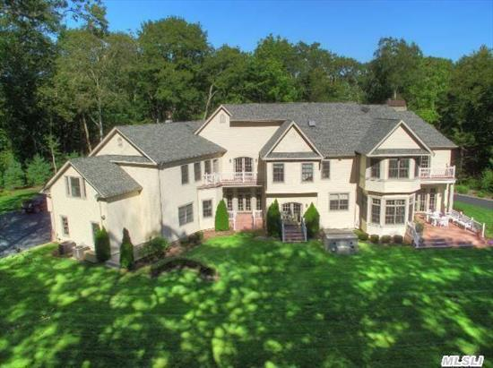 Impressive 6 Bedroom 7300 Sq Ft Residence Sequestered On 4 Private Acres In Exclusive Lloyd Harbor. Incredible Attention To Detail Thru-Out. Dramatic Entry Foyer, Gourmet Eik,  Great Rm W/Stone Fireplace,  Coffered 10' Plus Ceilings And Lavish Master Suite W/ Fplc. Tasteful Design & Space Is Offered In This Exceptional Better Than New Residence. Csh Sd#2