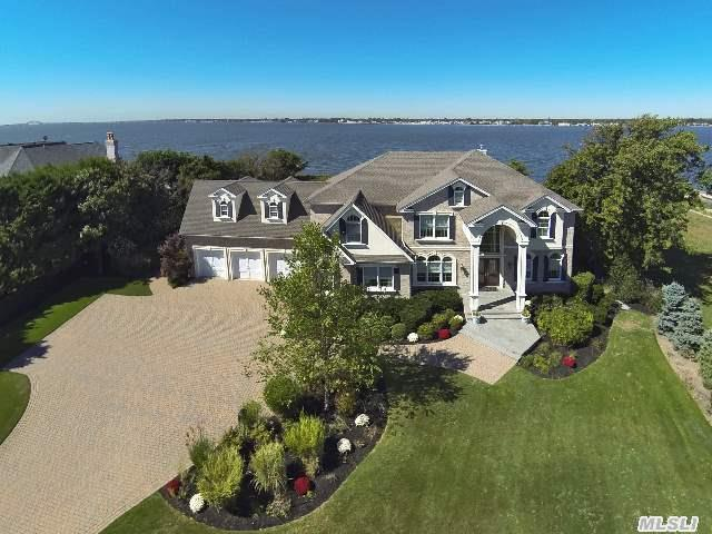Bayberry Point,  One Of A Kind,  Custom Built Brick Colonial,  With Commanding Panoramic Bay Views. Gated Entry,  5772 Sq Ft On 1.5 Acres With Sandy Beach. High End Gourmet Center Isle Kitchen,  Guest Br W/Fbth On Main. Great Rm W/Gas Fpl,  Fam Rm (22'X24.8'),  Radiant Heat,  3 Car Garage,  20 Kw Gas Generator,  Heated Gunite Clam Shell Pool. Taxes W/Star $36, 316. Untouched By Sandy