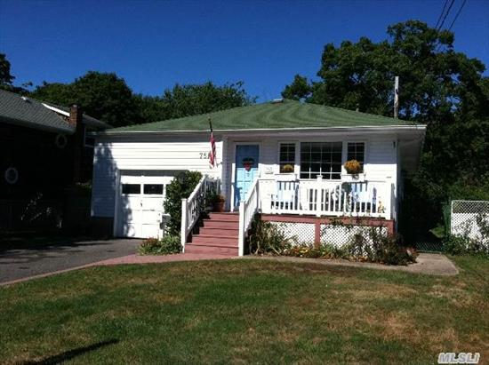 Well Kept Ranch In East Islip Offering 3 Bedrooms,  2 Full Baths,  Eat-In Kitchen,  Full Basement W/Ose & Garage. Updates Include Roof,  6 Year Old Gas Heating System,  Front Trex Deck & A Block Lined Driveway.  Taxes W/Basic Star $9776.