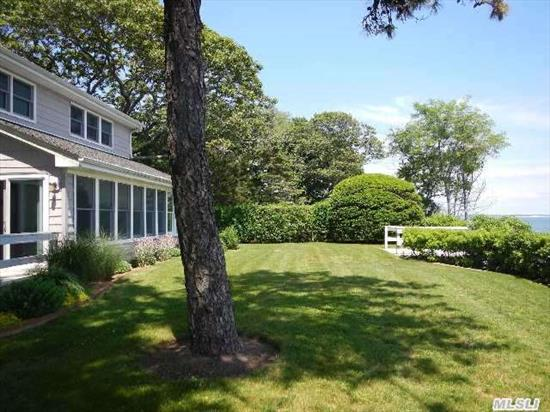 Bayfront Country 2 Story Features 4 Brs,  2.5 Baths,  Living Room With Fireplace,  Family Room,  Large Kitchen,  Dining Area,  Deck,  Covered Porch,  2 Car Plus Studio Panoramic Views. Room For Pool. 130' Bayfront,  Beautifully Landscaped