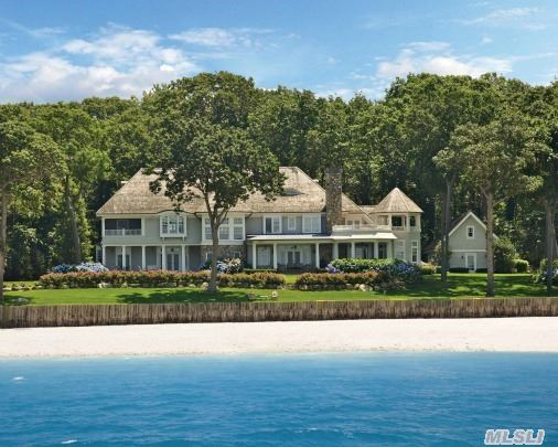 Quintessential Hamptons-Shingle/Stone Style Waterfront Home Custom Built In 2004 With Highest Level Of Quality In Design And Construction. 7000 Sqft Interior Boasts Finely Crafted Mouldings,  Extraordinary Attention To Detail,  Panoramic Views Of Li Sound To Ct From Most Every Room. 2.15 Acres With 235 Ft Of Water & Beach Frontage. Only 46 Miles From Nyc!