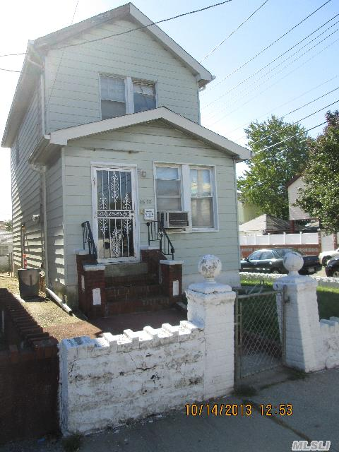 Bank Approved For $260, 000!!! Ready To Go...Corner House With Tons Of Potential. Lr,  Dr, Eik,  2 Bedrooms,  Full Bath,  Full Basement,  Gas Heat,  Light And Bright. 1 Car Garage. Ps 63