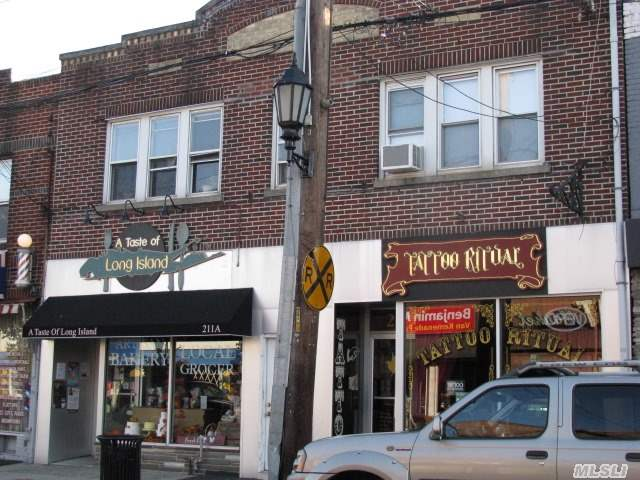 Great Investment Opportunity.  2 Stores,  2 2Br Apts (All Rented,  Stores With Long Term Leases,  Apts With 1 Year Leases And Basement.  Great Location On Main St,  Near Lirr,  Municipal Parking At Rear Of Building. Farmingdale Village Upgrading Downtown. Stores Can Be Shown During Normal Business Hours,  Apts By Appointment.