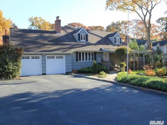 Stunning Expanded Cape W/ Tons Of Features. Great For Extended Family And Entertaining. Updated Eik. Two Living Spaces Both W/ Fireplace's! Huge Driveway Provides Plenty Of Parking. Lush Landscaping,  Pool,  And Backyard Space. Master Bdr's On 1st And 2nd Floor. Located In A Quiet Neighborhood Convenient To Transportation/Main St/Hospital. Smithtown Schools!