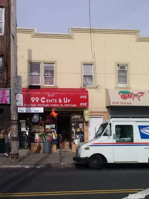Store And 6 Room Apt.99 Cents Store Lease Up July - 14 Can Buy Package With 75-19 101 Ave Asking $ 1650000 For Both Bldgs