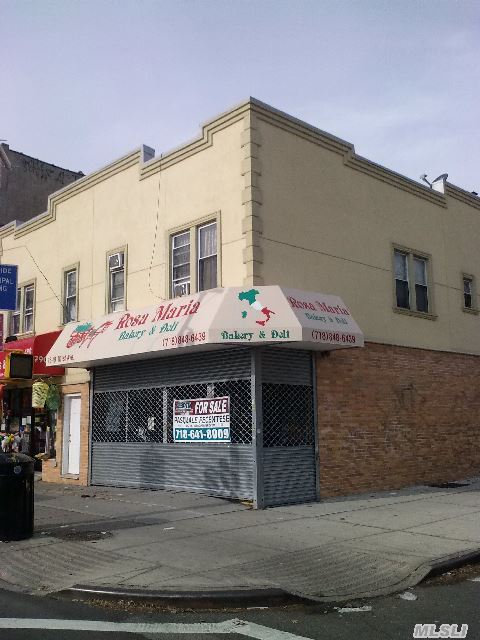 Sd, Store And 2 Fam. 5 Rooms On Each Apt.Store Is All New,  Floors, Walls,  Ceilings,  Electric..... Bakery Equipment Not Incl.C/A/C And Central Heat.Option To Buy As Package With 75-17 101 Ave .Asking  $1650000