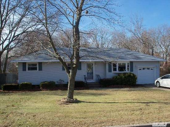 Nice Ranch In Connetquot Sd,  Great Location,  New Updated Kitchen,  Newer Roof & Siding,  All New Front Windows,  Hardwood Floors,  200 Amp Service,  5 Zones  Heating System,  New Hot Water Heater,  Den W/Wood Burning Fireplace,  Full Finished Basement,  Room For Mom W/2 Ose,  Just Shy 1/2 Acre Property,  Private  Backyard,  Taxes W/Star $8, 698.77.