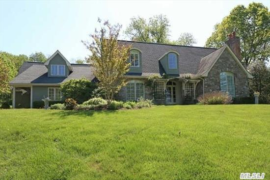 Pvt Rd Leads To Exquisite Country Manor Home.Enter A Rose Covered Arbor To Flawlessly Designed,  Comfortable & Cozy Home W High Level Finishes, Entry Foyer Opens To Fml Dr &Lr, Oversized Gourmet Eik And Great Rm To Back Porch & Bluestone Patio.Mstr Bdrm Suite On Main W Sitting Rm/Office/Library, Granite & Marble Bath W Steam Shower & Jacuzzi.One Of A Kind Hm On Lush 2.07 Acres