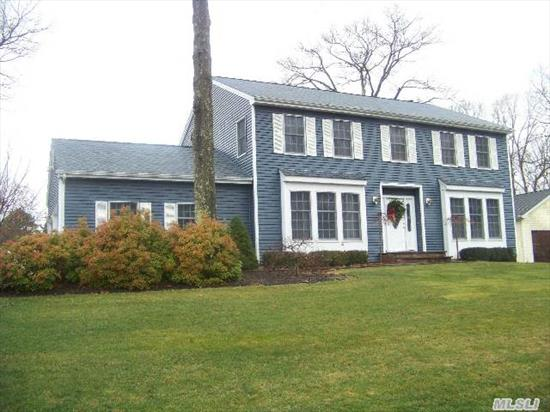Beautiful 3000 Sq Ft Colonial On A Professional Landscaped 1/2 Acre.  3 Large Brs,  Den W/ Fpl & Hw Floors,  Formal Dr,  Formal Lr,  Finished Bsmt,  In-Ground Pool And More.  This Home Is A Must No Peconic Tax - Swr Schools In Brookhaven Township