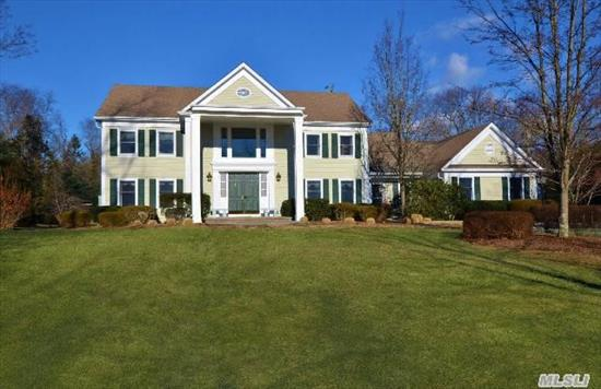 Welcome To This Custom,  Classic 5-Bedroom Colonial,  2 Spectacular Acres,  Beautiful Cul-De-Sac Location In Csh's Sought After Wawapek Neighborhood.  Features Of This Elegant & Spacious Home Include Chef's Kitchen W. Breakfast Rm,  Luxurious Master Suite,  9Ft Ceilings,  Front And Back Staircase,  Entertainer's Back Yard W.Mahogany Deck,  Gazebo,  Igp And Lighted Tennis Ct.